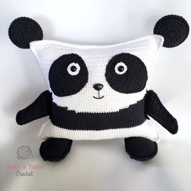 Pudgy Panda Plushie Free Crochet Pattern   Crochet - almohadones ...
