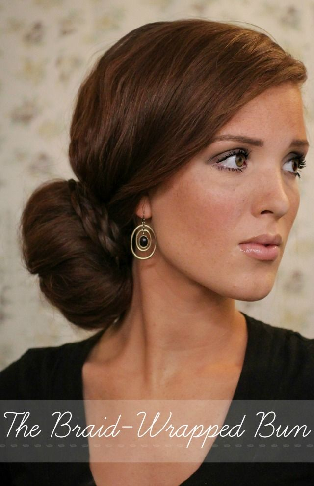 The Freckled Fox - a Hairstyle Blog: Summers End Hair Week: The Braid Wrapped Bun