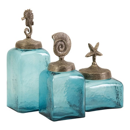 3 Piece Seaside Canister Set