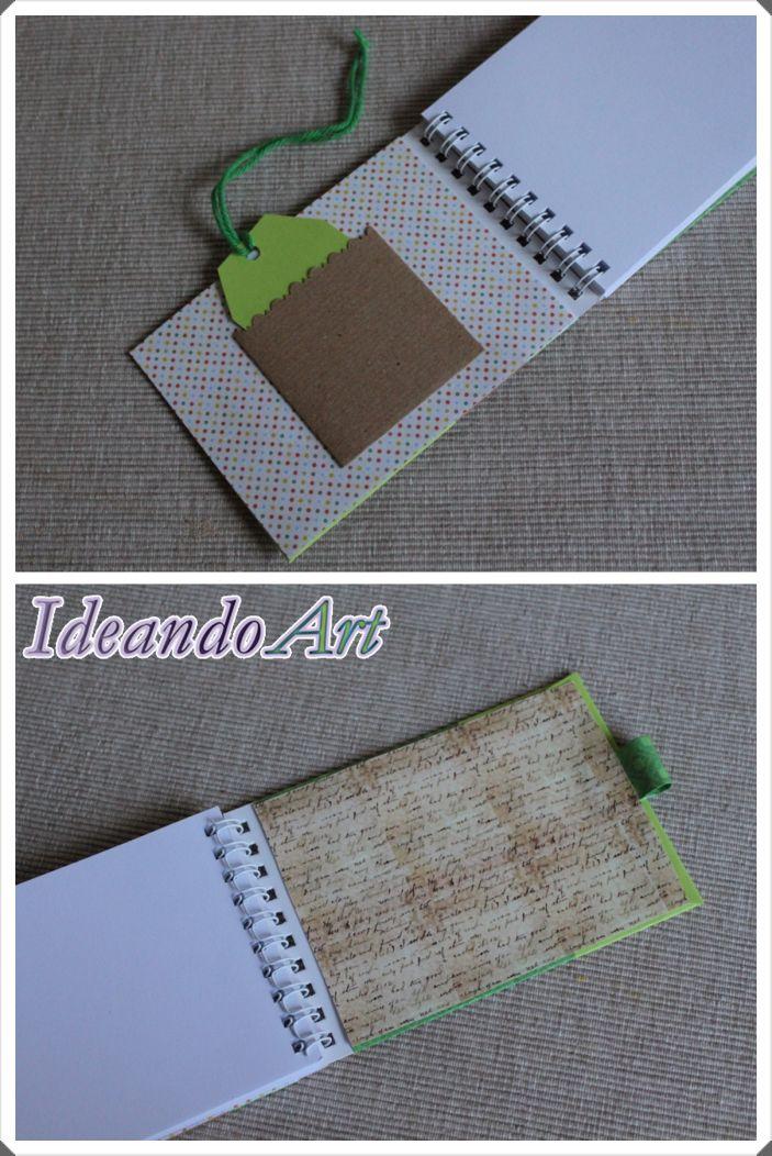Interior de libreta personalizada DIY by IdeandoArt