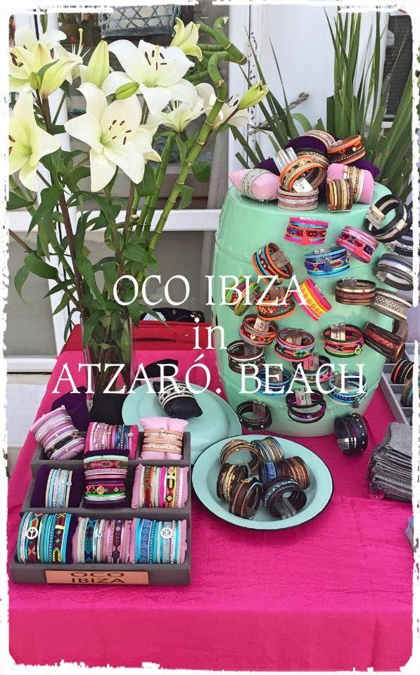 Find our OCO Ibiza Bracelets at Atzaro Beach :)