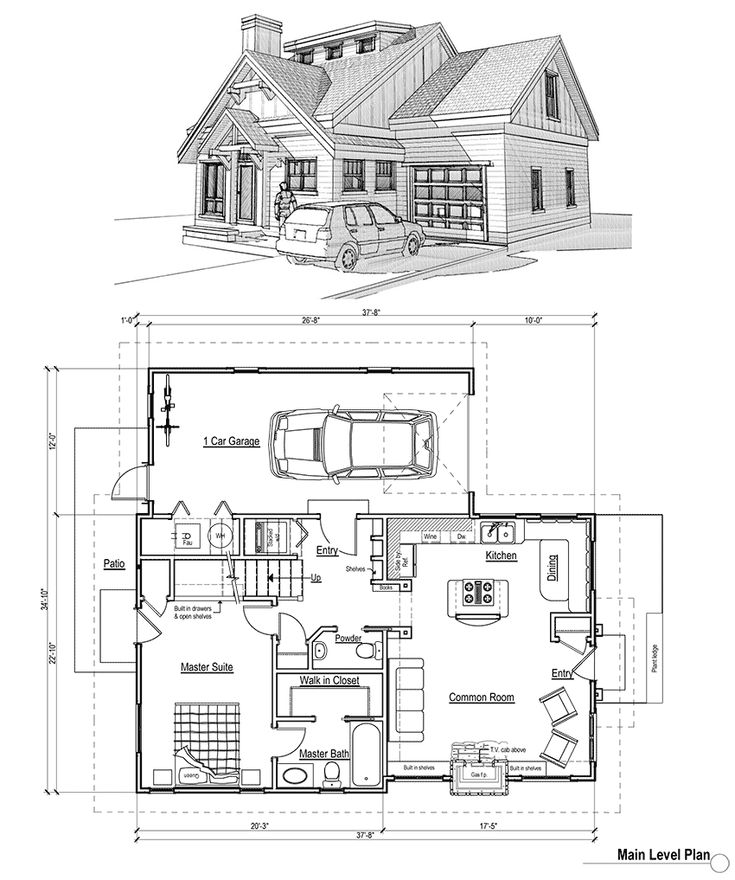 1000 ideas about small cottage house on pinterest small for Weekend cabin floor plans