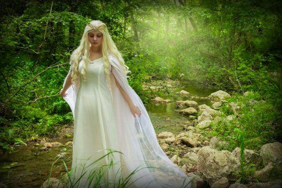 Vestido élfico cosplay fantasía Dama Elfa por TheSeamstressofRohan