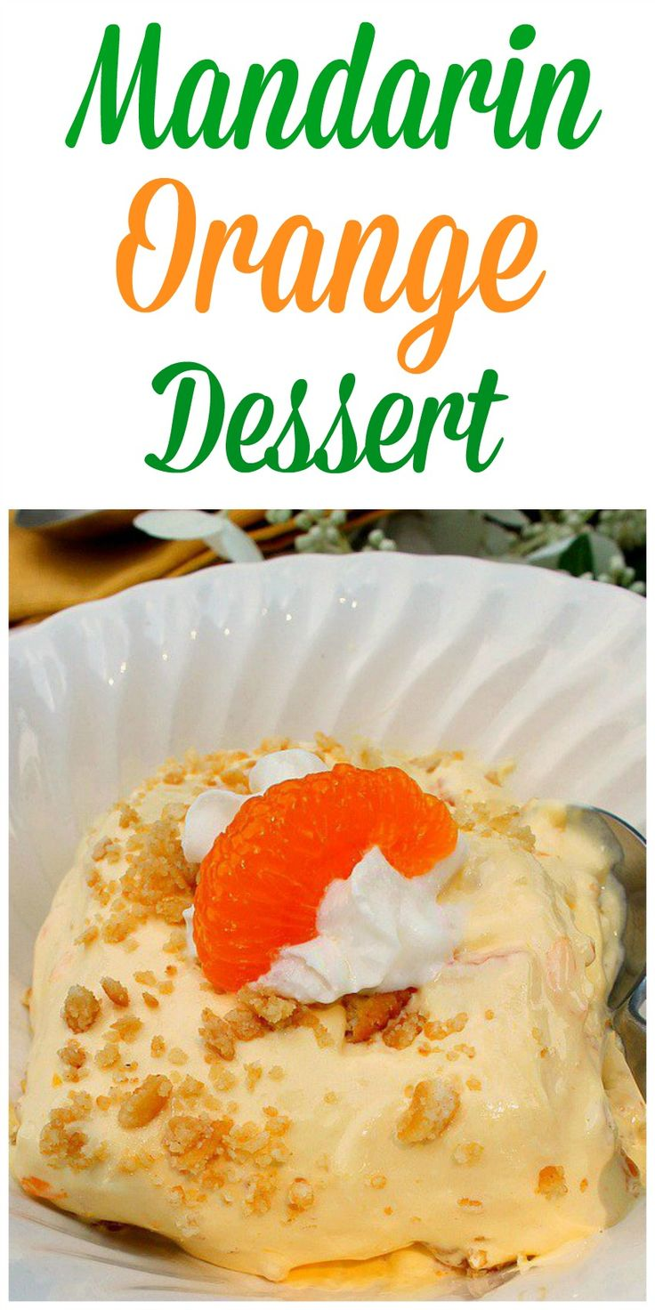 Mandarin Orange Dessert...A delicious, easy orange flavored dessert with a sweet and salty edge to it due to the crushed Ritz Cracker bottom layer, great for any holiday gathering.