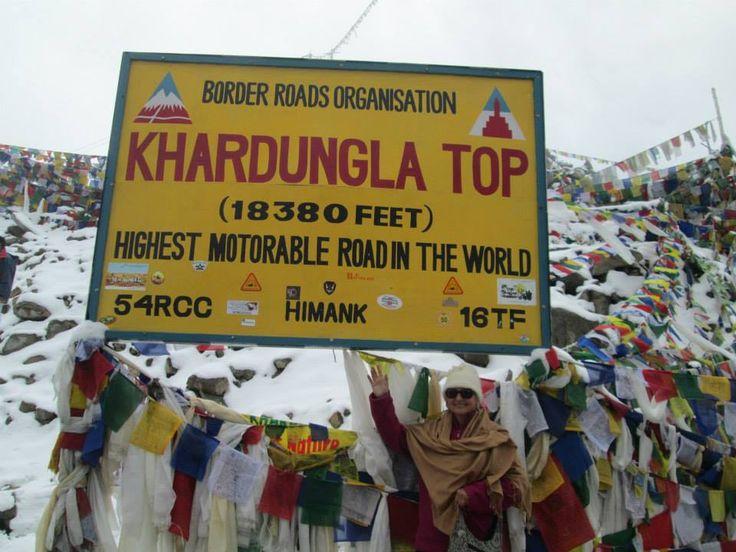 Khardungla Top. - Highest Motorable Road in the World #India #Travel #Adventure