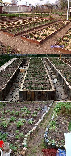Ограждения для грядок: зачем, из чего и как | Огород без хлопот