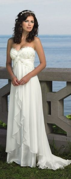 If I could have a beach wedding this would be the perfect dress