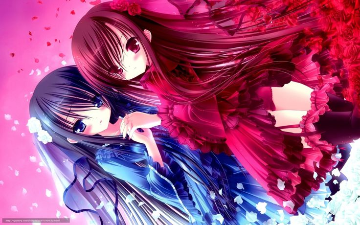 Anime girl opposite twins – abuv