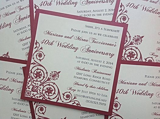 Surprise Wedding Anniversary Invitations: 11 Best Anniversary Images On Pinterest