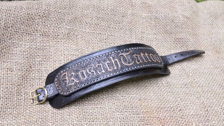 Leather bracelet - Number 3 - KosachTattoo Leather bracelet - 50 shades ...