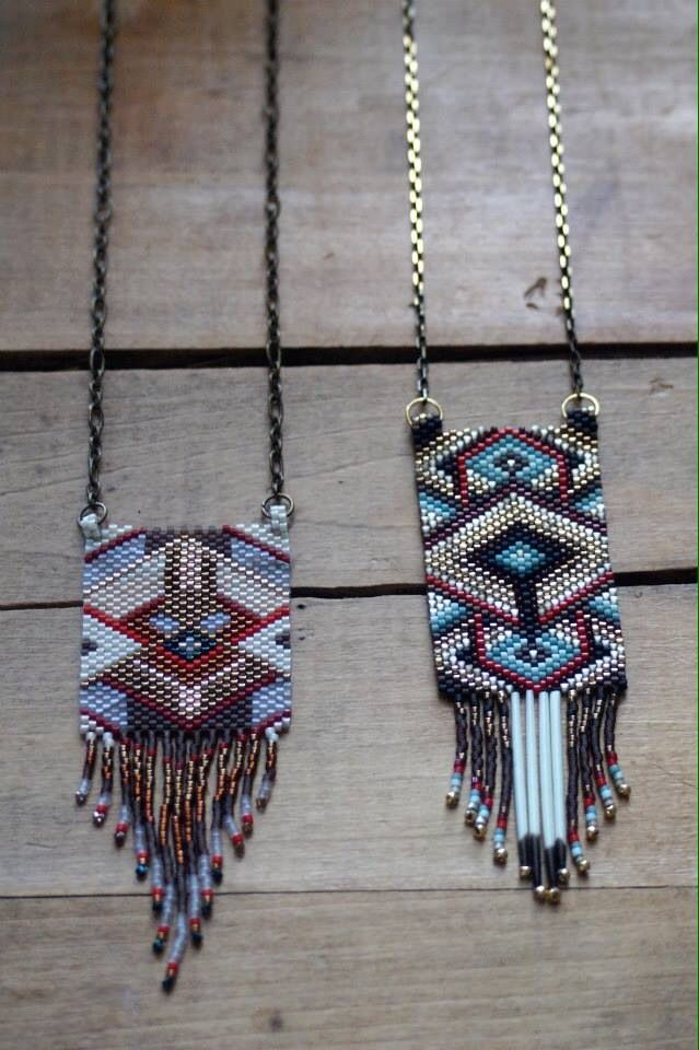 New peyote necklaces!