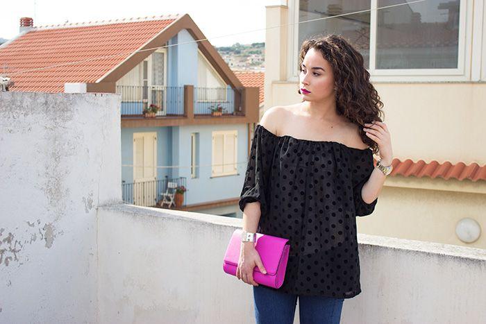 Sparkly Fashion: Outfit: Un abito a pois che diventa una blusa
