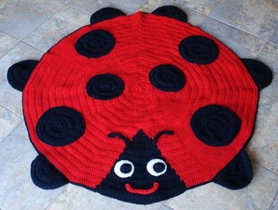 Crochet Ladybug Rug Pattern