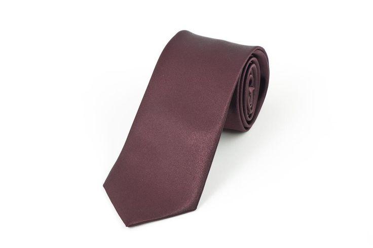 Satin Wine Necktie