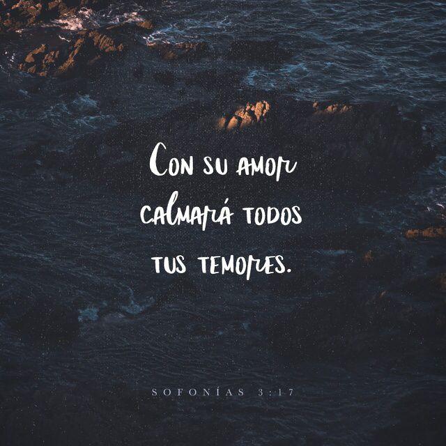"""""""El Señor está en medio de ti, y te salvará con su poder; por ti se regocijará y se alegrará; por amor guardará silencio, y con cánticos se regocijará por ti.»"""" Sofonías 3:17 RVC"""