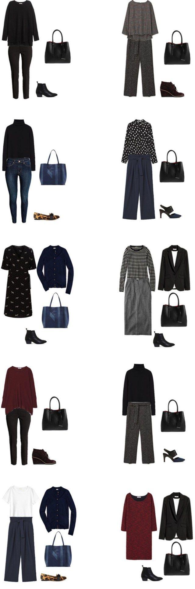 Fall 2016/Winter 2017 Work Capsule Wardrobe Outfit Options 2- livelovesara