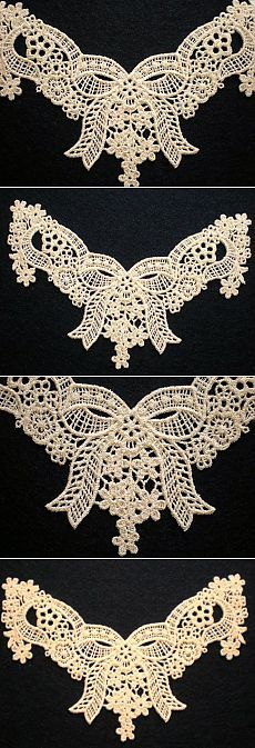 Embroidered Bridal Lace Neckline Lace by ElsieMichelleDesigns