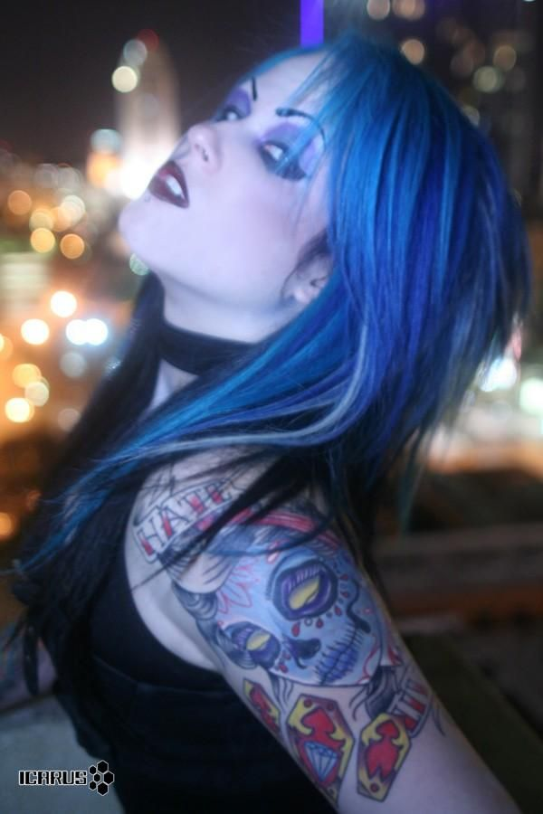 401 best images about goth and industrial tattoo nation on for Nude tattooed chicks