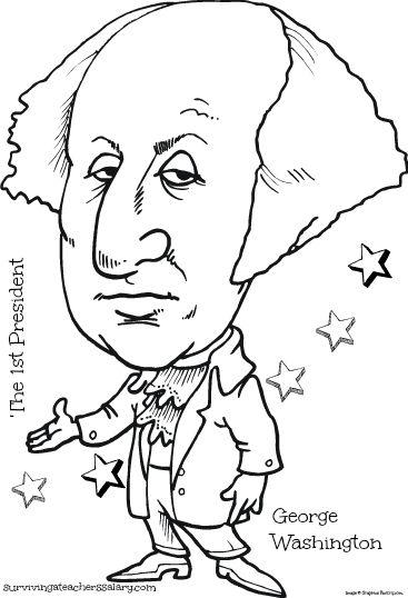free president lincoln  u0026 washington coloring sheet