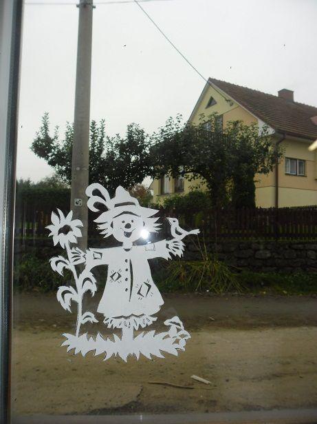 podzimní výzdoba do oken - Hľadať Googlom