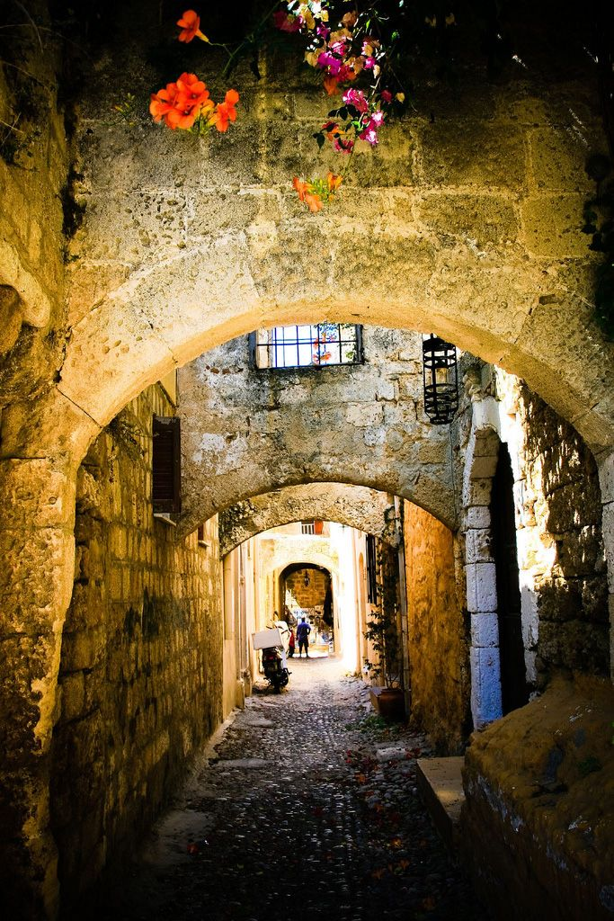 Old Town of Rhodes, Greece. Love the medieval streets and many of the original…