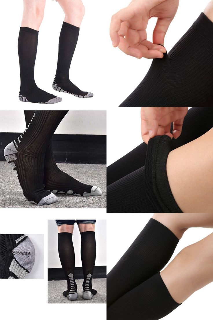 [Visit to Buy] Unisex Socks Firm Pressure Circulation Quality Hose Compression Socks Knee High Orthopedic Support Stockings Sports Socks #Advertisement