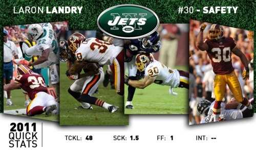 We're happy to welcome safety LaRon Landry to the Jets!