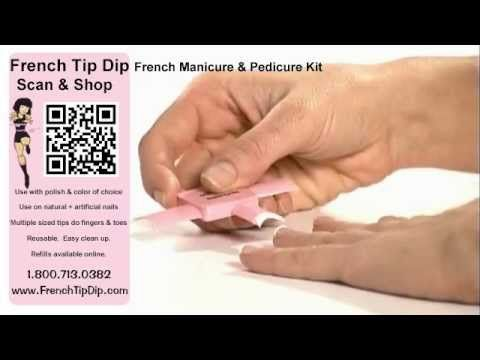 """French Tip Dip in Action. """"Genius""""  """"my new best friend"""" Must see! www.FrenchTipDip.com"""