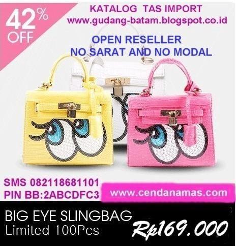 NEW ARRIVAL-TAS SELEMPANG-SLING BAG-TAS-TAS WANITA-TAS IMPORT-2 STYLES-MANY COLORS Code : Big Eyes Bag BQ1057    Bahan PU  Ukuran 17X27X12CM Include Tali Panjang  Berat 0.7kg  Color : Yellow,Black,Silver ,Gold,Red,White,Gray,Pink
