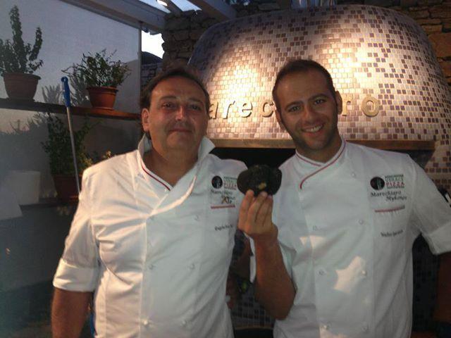 Tartufo di Alba for our Pizza, Bianca with Truffle, Marechiaro Pizza Mykonos