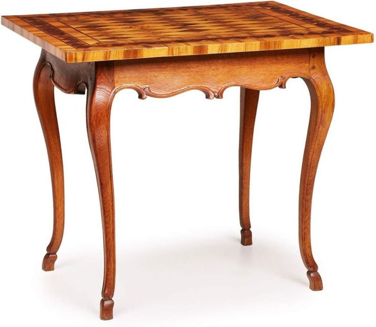 rokoko tisch s ddt 2 h lfte 18 jh eiche massiv rechteck platte in nussbaum m. Black Bedroom Furniture Sets. Home Design Ideas