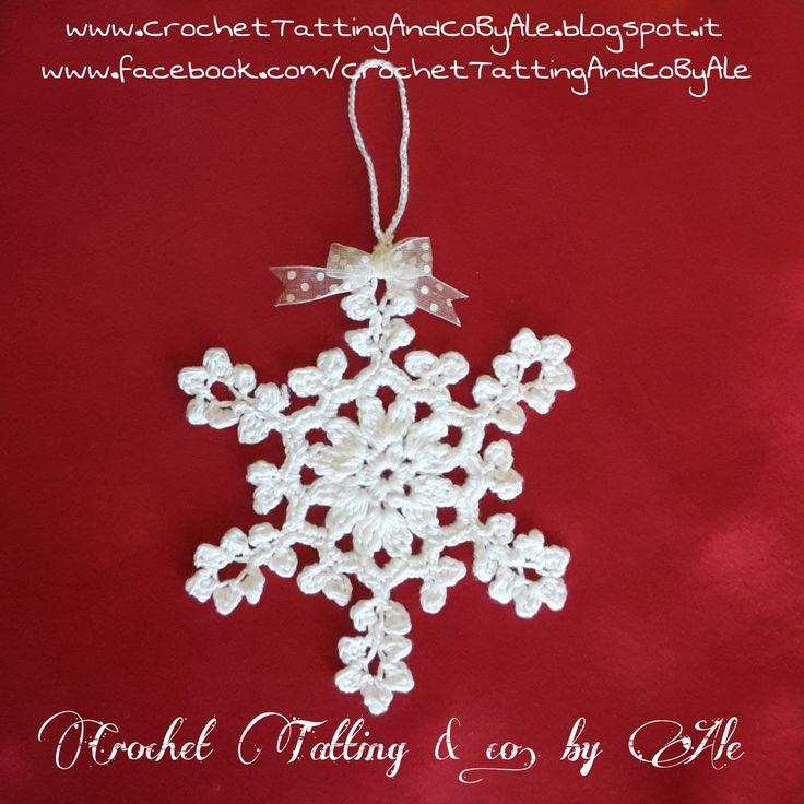 Fiocco di neve a uncinetto : Accessori casa di crochet-tatting-and-co-by-ale