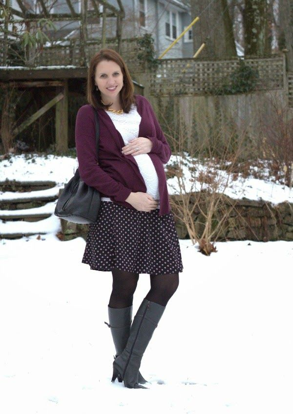 See What Katie Wears: A-line Maternity Skirt with lace top