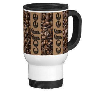 Funny #Coffee Beans Typography Coffee Lover #Travel Mug
