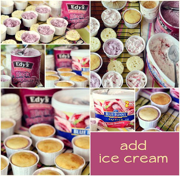 how to make ice cream cupcakes at TidyMom