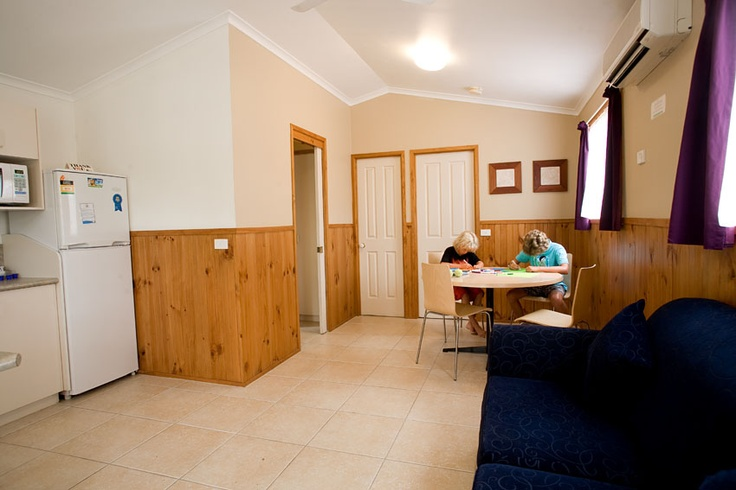 Banksia Villa cabin accommodation at Emerald Beach caravan and camping park