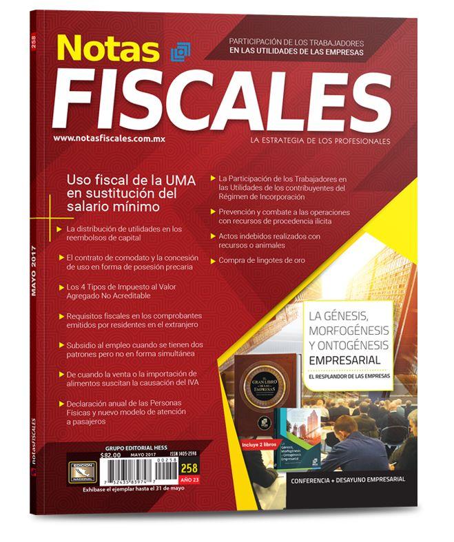 Revista Notas Fiscales #258 Mayo 2017
