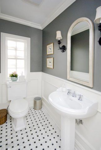 Gray and White Parisian I WILL do this in our master