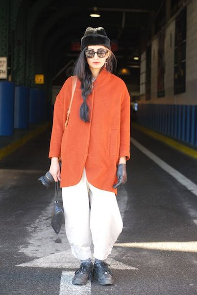 The Best Street Style from New York Fashion Week, Day 2: Nadia Sarwar Blogger