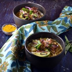Chicken Khao Soi- Thai Curry Soup. | Sheer Deliciousness | Pinterest