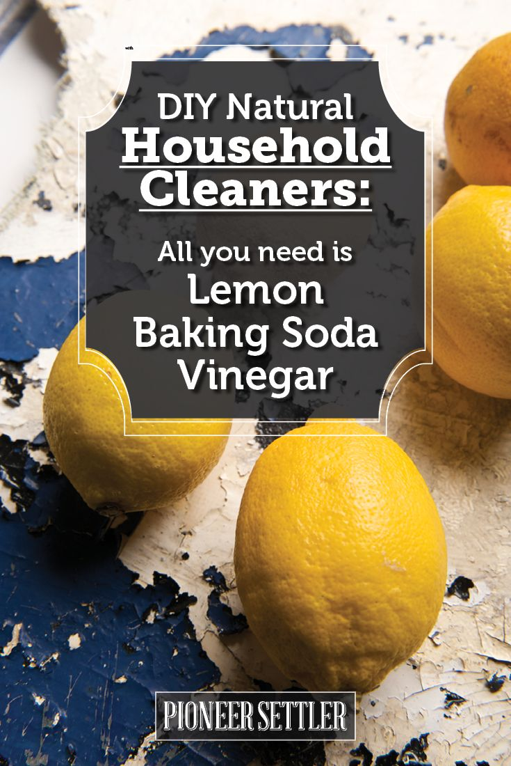 Natural Household Cleaners | Self-Sustaining Ideas For Living The Homesteader's Dream | DIY Projects And Frugal Living Ideas by Pioneer Settler at http://pioneersettler.com/self-sustaining-ideas-living-homesteaders-dream/