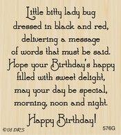 August Birthday Greeting   180G. Birthday GreetingsBirthday CardsLadybugs Card MakingBirthdays