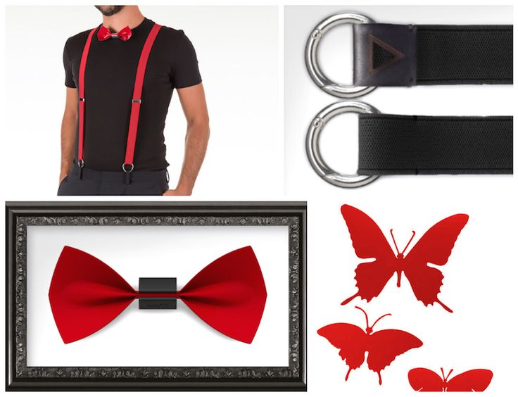 #papillon #butterfly #red #classy #classic #fashion #accessories #unisex #suspender #cool #chic