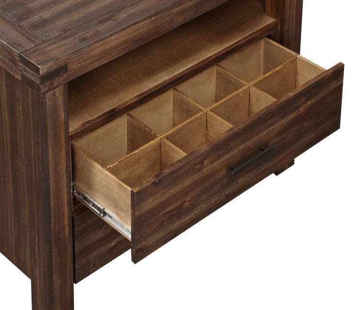 Meadow Nightstand Compartments