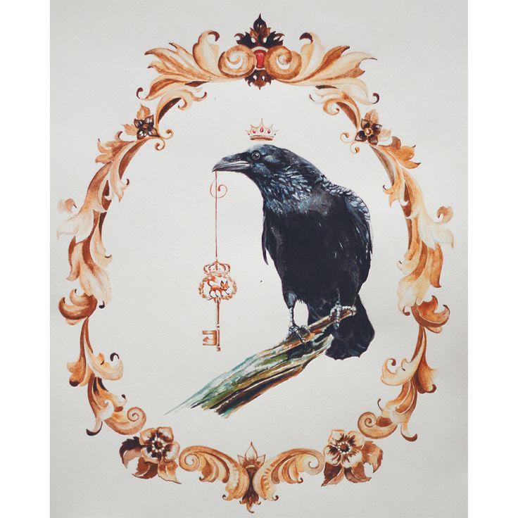 #Raven #fox #crown #mood #black #key #king #wisdom