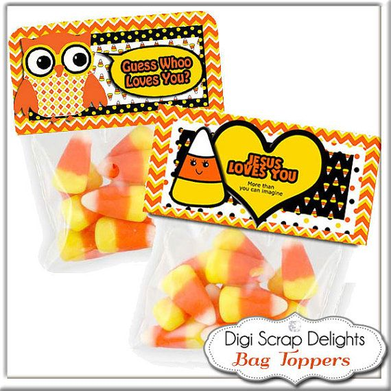 Personalized Printable Halloween Bag Topper by DigiScrapDelights