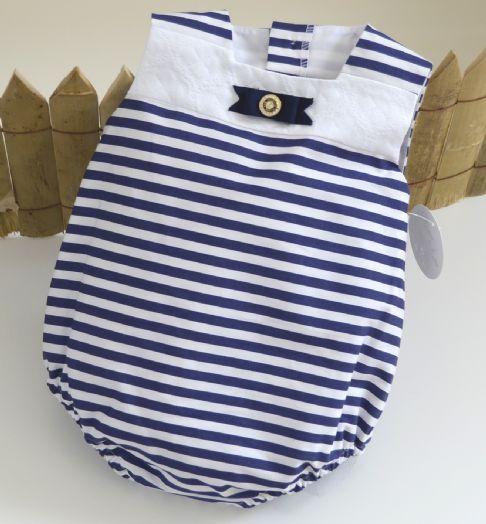 Pelele de niño marinero. 12 y 18 meses