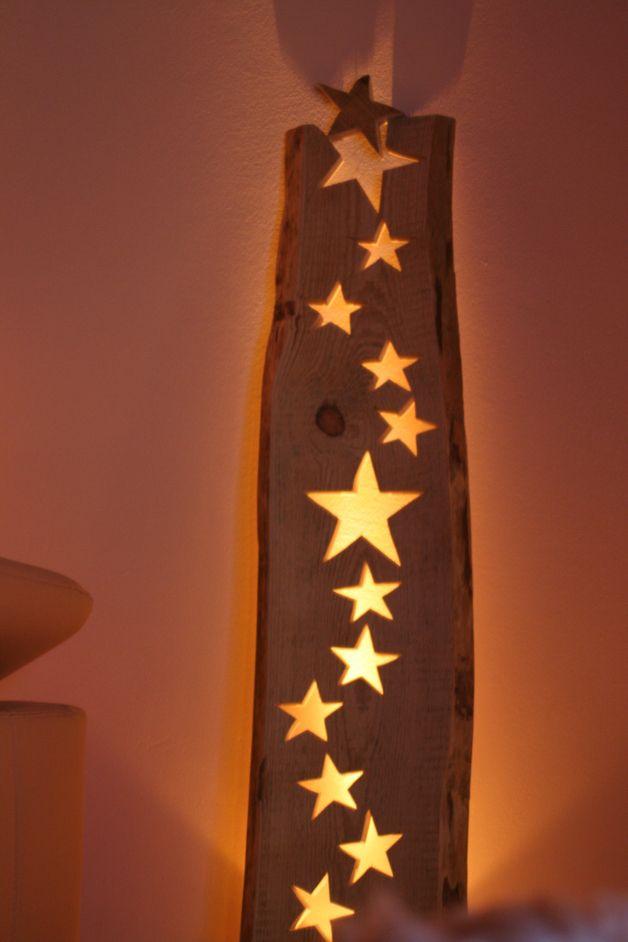 """Weihnachtsdeko - Windlicht Wandlehner """"Sterntalers Milchstr... - ein Designerstück von engelathome bei DaWanda"""