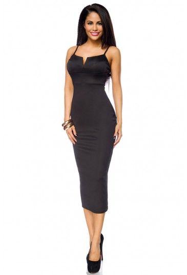 Jednoduché čierne biznis šaty