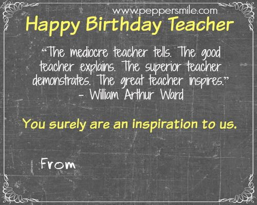 Heart Quotes With Pictures And Cards: 1000+ Ideas About Birthday Card For Teacher On Pinterest